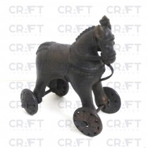 Vintage Antique Collectible Solid Brass Horse Figurine Statue